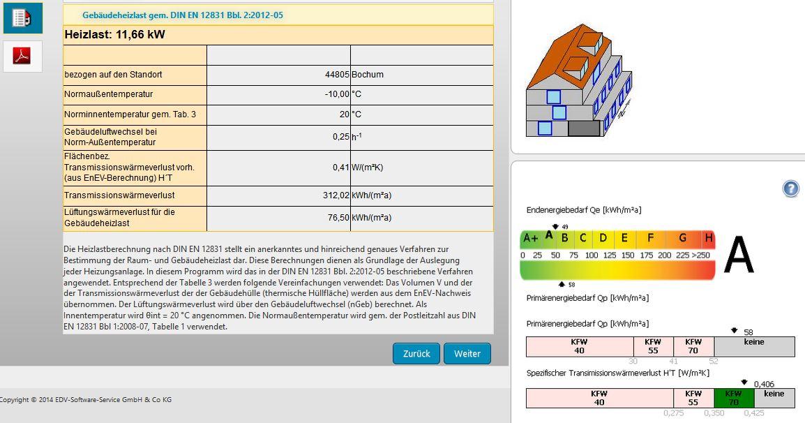 Heizlastberechnung nach EN 12831